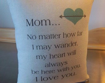 Mom gift ideas, mom pillow, throw pillow, gift for her, mommy gift, cotton canvas cushion, Mum pillows, mom birthday gift, bedroom decor