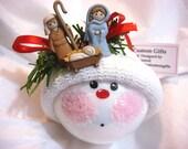 Nativity Christmas Ornament Mary Jesus Joseph Townsend Custom Gifts