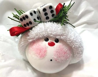 BUNCO ORNAMENT Christmas Townsend Custom Gifts Dice Die - F