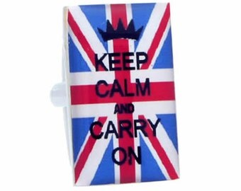 "Union Jack ""Keep Calm and Carry On"" Cufflinks"