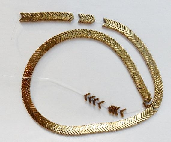 Gold hematite W... Gold Hematite Beads
