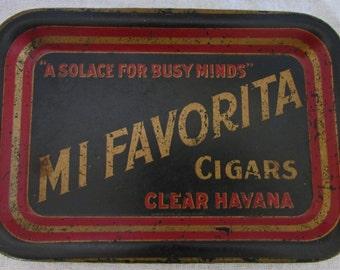 Mi Favorita Tin Tip Tray Chas. W. Shonk Co. Litho Chicago - RARE