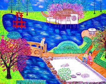Brooklyn Botanical Gardens-  Prospect Park, Flatbush Avenue, Japanese Garden