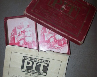 1919 Parker Brothers Salem Mass. PIT Card Game Bull and Bear Edition