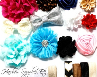 Headband Kit - Baby Shower Station Kit - Assorted Colors - Variety Pack - Charming -  Baby Headbands, DIY Headband - Hairbow Supplies, Etc.
