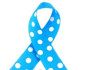 Copen Polka Dots 7/8 inch Polka Dot Grosgrain Ribbon - Polka Dot Ribbon, Polka Dot Hair Bow, Polka Dot Bow, Ribbon By The Yard