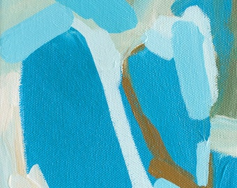 Little Gem No. 4 - Original Abstract Acrylic Painting on Stretched Canvas