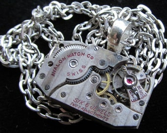 Industrial Unisex Watch Movement Necklace Pendant A 15