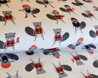 Burly Beavers Flannel Collection, Flannel Cotton, Hipster fabric, Grey Fabric, Boy Fabric, Robert Kaufman Fabrics Choose size and quantity
