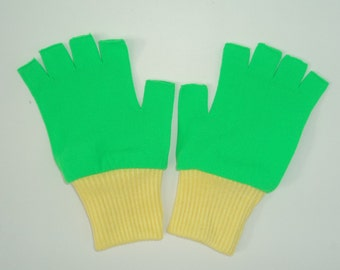 New Ash Ketchum Trainer Pokemon Costume Gloves -  Green / Yellow   choose size