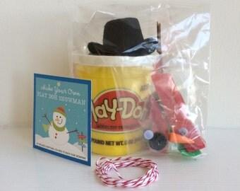 Snowman Kit - Playdoh Snowman Kit - Preschool Gift - Playdough Snowman - Kids Stocking Stuffer - Snowman Tag - DIY Snowman - Christmas Gift