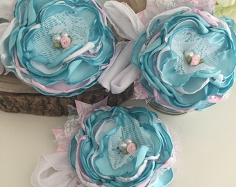 Vintage clouds flower headband by cozette couture inspired by dollcake