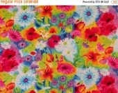 ON SALE Stunning Colorful Allover Ambrosia Floral Print Pure Cotton Fabric--By the Yard