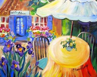 Flower Shop Original Painting  24 x 24 Art by Elaine Cory