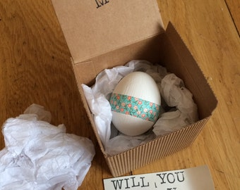 Will you be my bridesmaid secret egg