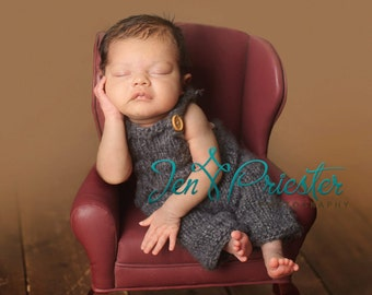 Newborn overalls ... knit overalls....photography prop....Newborn photo prop..25% off at checkout with code SEPT1