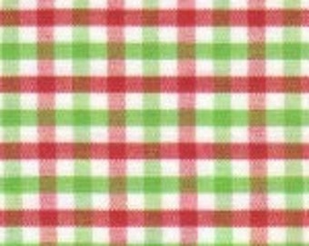 1/2 yard red and lime green tri check fabric from Fabric Finders
