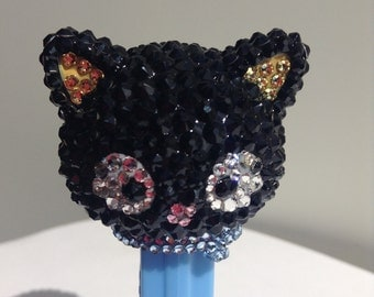 Choco Cat Hello Kitty's friend rhinestone encrusted Pez Dispenser