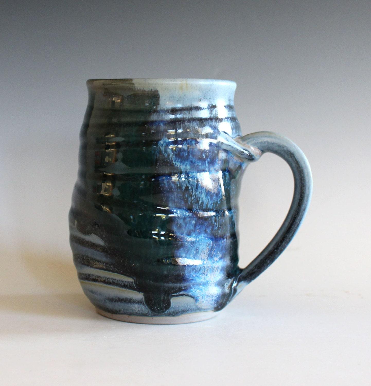 Coffee Mug Twisted 18 Oz Unique Coffee Mug Handmade Ceramic