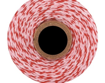 Peppermint Divine Twine (240yds) Pink and Red