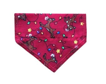 Rudolph Christmas Cat Bandana