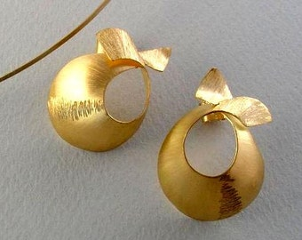Earrings, 18K solid gold, handcrafted by Doretta Tondi, 84-1