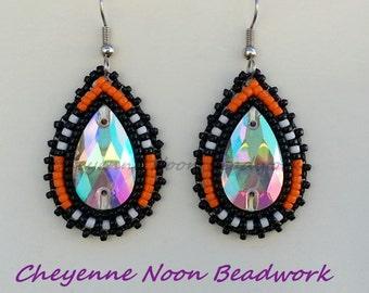 Native American Beaded Earrings - NFL Team Colors - Bengals