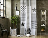 Grey Simple Pattern Black Out Wide Fabric for Curtains one sheet (59 inches x 94 inches) 73657