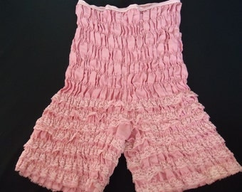 Dusty Pink Rose Lace Vintage 1980's Women's Square Dancing Pantaloons Bloomers S M