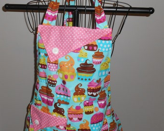 Cupcakes and Polka Dots Women's Apron