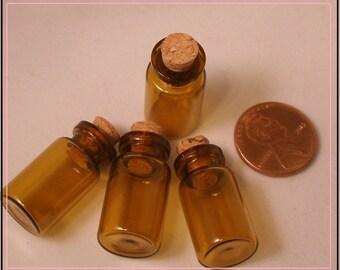 Tiny Glass Bottles - Small Poison Bottle - Glass Bottle With Cork