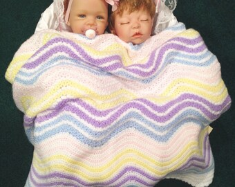 Rainbow Baby Blanket, Rainbow Baby Blanket, Pastel Baby Blanket, Pastel Ripple Baby Blanket, New Baby Blanket, Pastel New Baby Gift, Rainbow