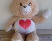 "Vintage Jumbo Care Bear ""Tenderheart"" Plush 36"" Tall"