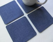 Set Of 4 Fabric Coasters/Dungaree