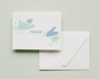 Letterpress Card - PEACE