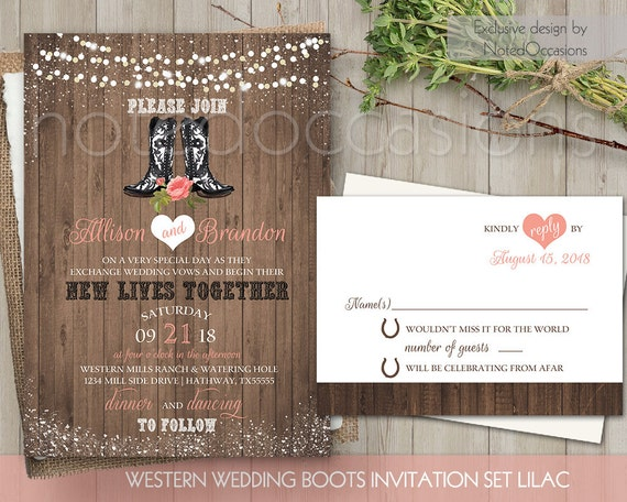Boots Wedding Invitations: Country Western Wedding Invitations Printable By