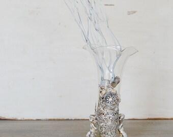 Cherub Vase, Cherub Bud Vase, Gold Cherub Vase, Gold Bud Vase, Angel Vase,