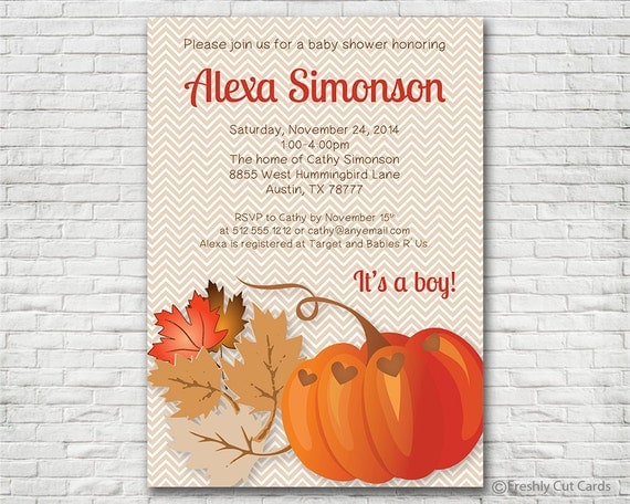 Pumpkin party or pumpkin themed baby shower invitation printable il570xn filmwisefo