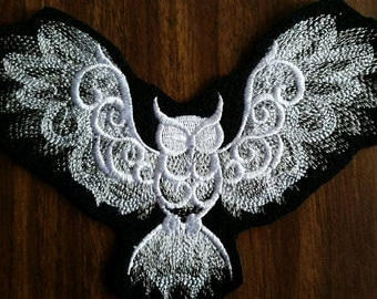 Owl Patch, iron on,