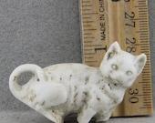 Vintage Antique Excavated  German Porcelain Miniature  Cat For Doll Making Altered Art