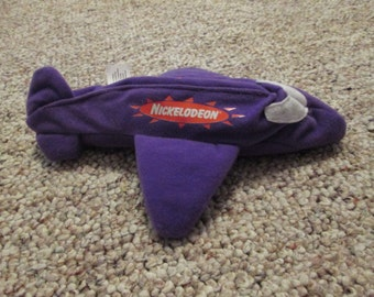 Vintage Nickelodeon Purple Plane Pencil Holder with Velcro