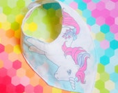My Little Pony MLP Bandana baby girl bib hipster vintage style by felices happy designs