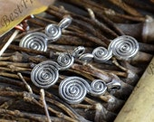20PCS of  8x18MM Antique silver Charms spiral Pendant,pendant beads,jewelry findings,Charms Fingdings pendant
