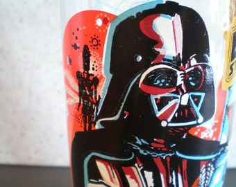 1980's Star Wars - Empire Strikes Back Burger King Glass - Darth Vader