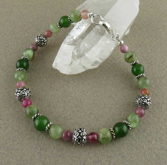 SALE! Recovery & Rejuvenation Bracelet with Tourmaline, Green Kyanite and Jade (2411)