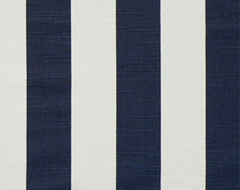 "Tablecloth NAVY and White Canopy STRIPE 54"" x 96"""