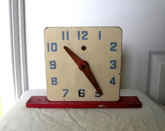 Chad Valley Clock - Vintage Toy Abacus - Vintage Wooden Abacus Clock