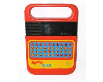 Vintage Texas Instruments Speak and Spell Educational Toy Possible Circuit Bending Project