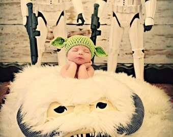 Newborn Photo Prop Yoda Hat