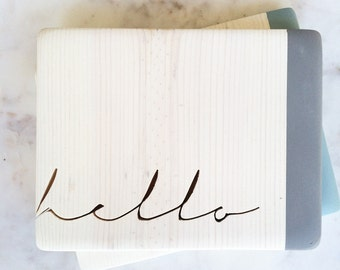 Hello Cut Out Text Sign